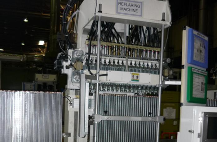 evaporator-reflaring-machine